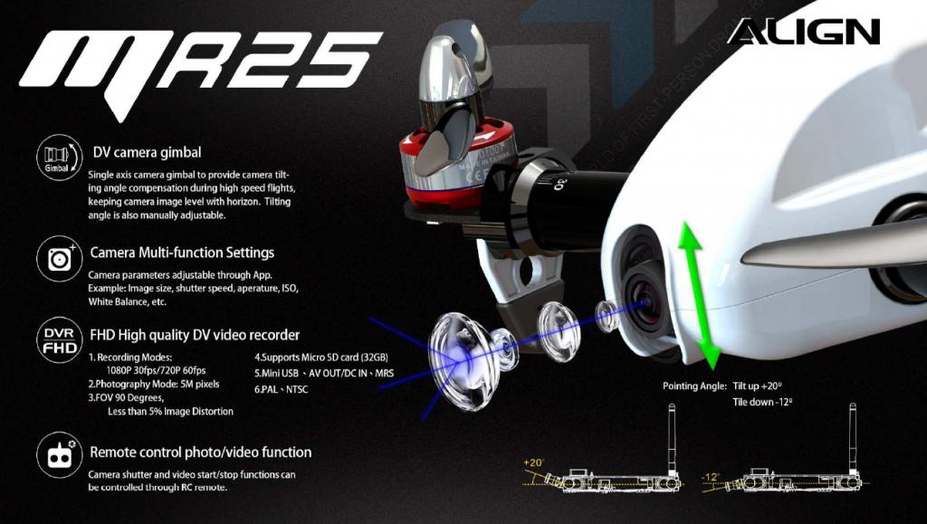 camera gimbal fpv racer MR25 Align