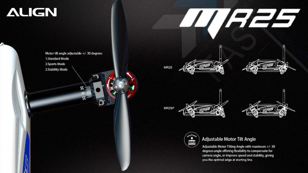 angle moteur réglable MR25 Align